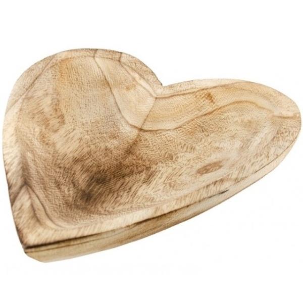 DŘEVĚNÁ MISKA ve tvaru srdce 25x4 cm
