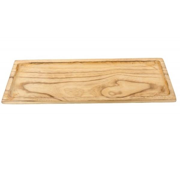 Dřevěný obdélníkový tác 38x13,5 cm