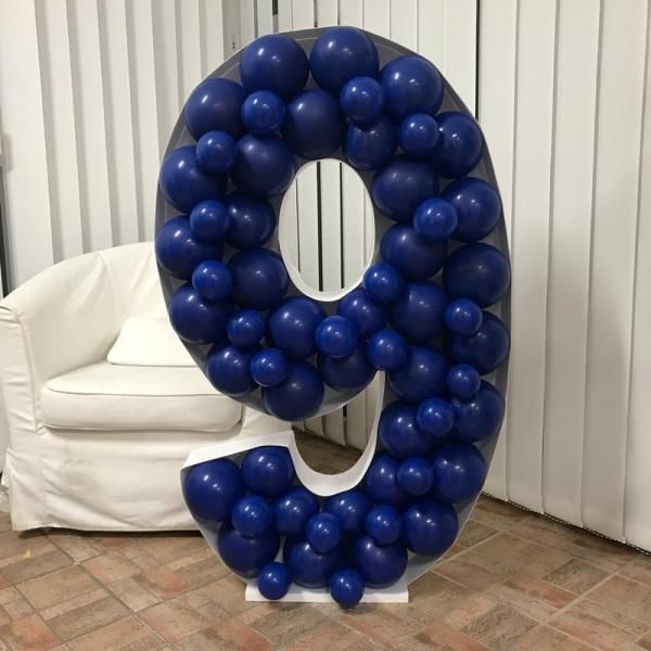 FORMA na balónky Číslice 9 120x81cm