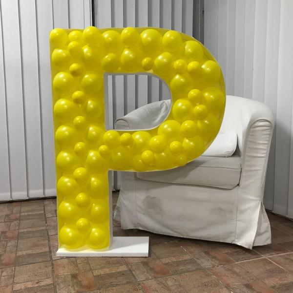 Levně FORMA na balónky Písmeno P 100x76cm