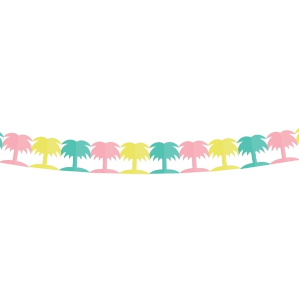 GIRLANDA barevná palma 360 x 18 cm