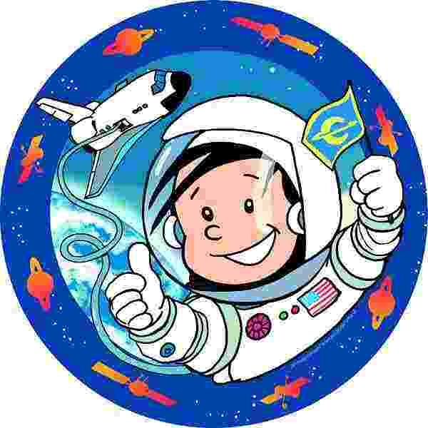 JEDLÝ papír na dort Astronaut