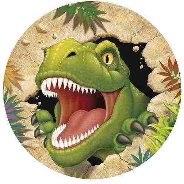 JEDLÝ papír na dort Dinosaurus