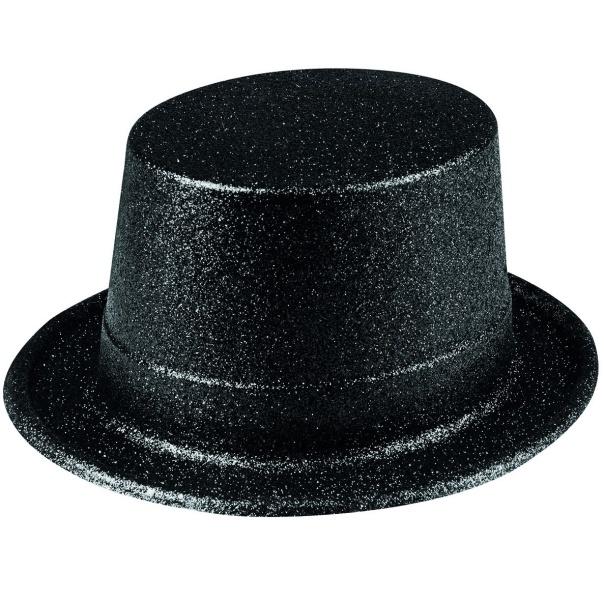 KLOBOUK glitrový černý