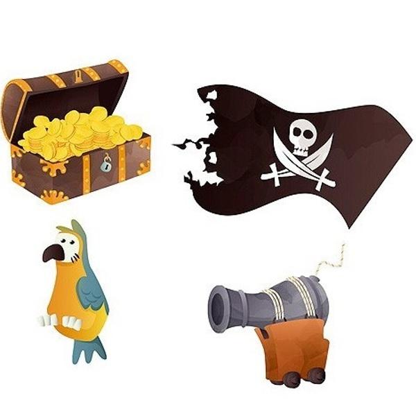 Levně KONFETY na stůl Pirátský poklad 16ks