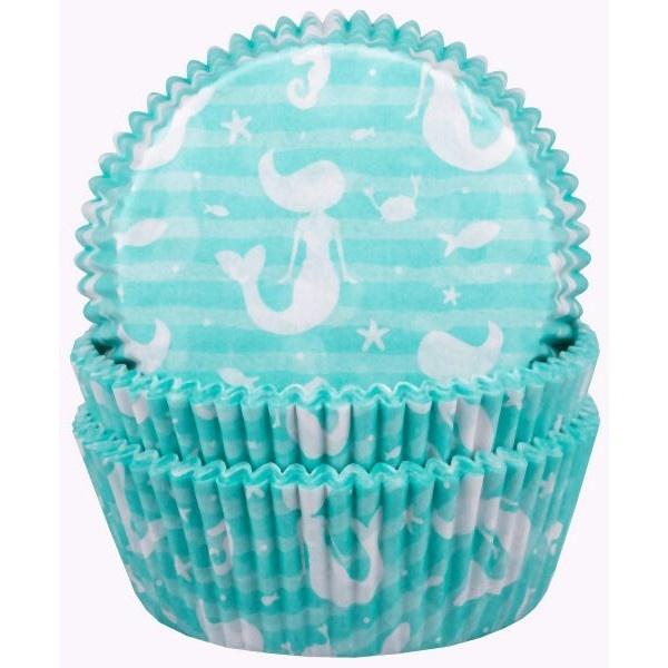 KOŠÍČKY na cupcakes Mořská víla 60ks