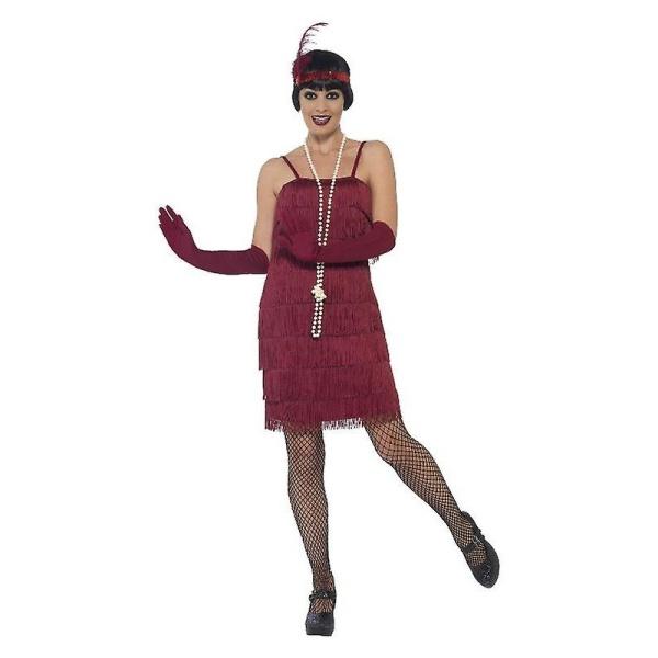 KOSTÝM 20.léta dámský vínově červený