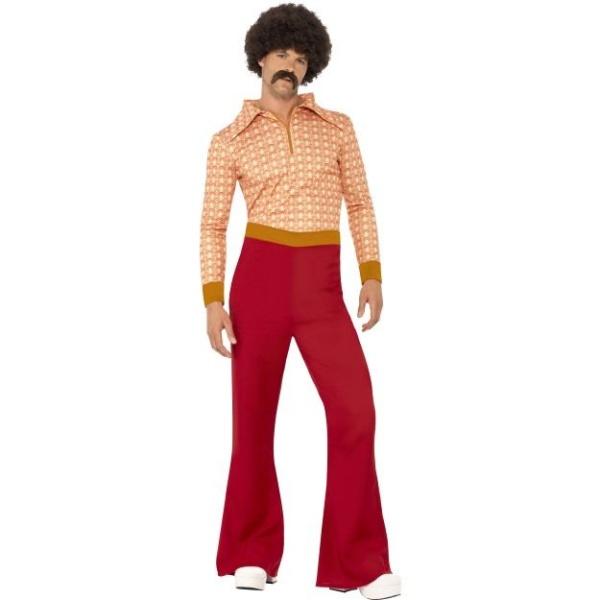 KOSTÝM 70.léta pánský červený