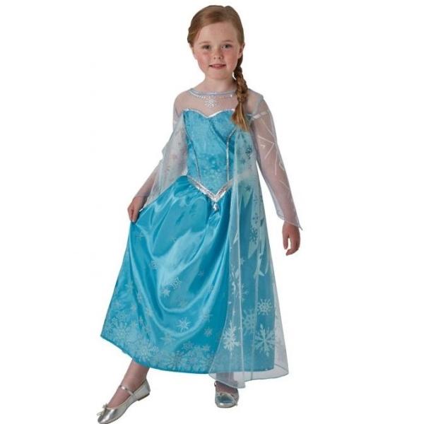 KOSTÝM Frozen Elsa Ledová královna deluxe 3-4 roky