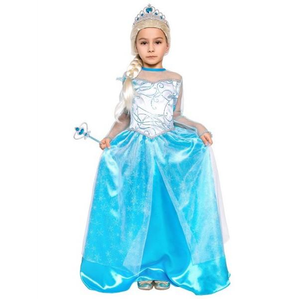 KOSTÝM Elsa - ledová princezna dětský 130/140