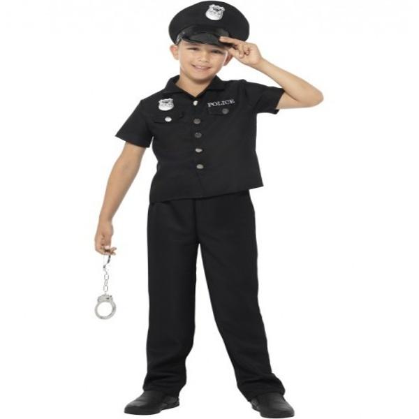 KOSTÝM Policista černý velikost L