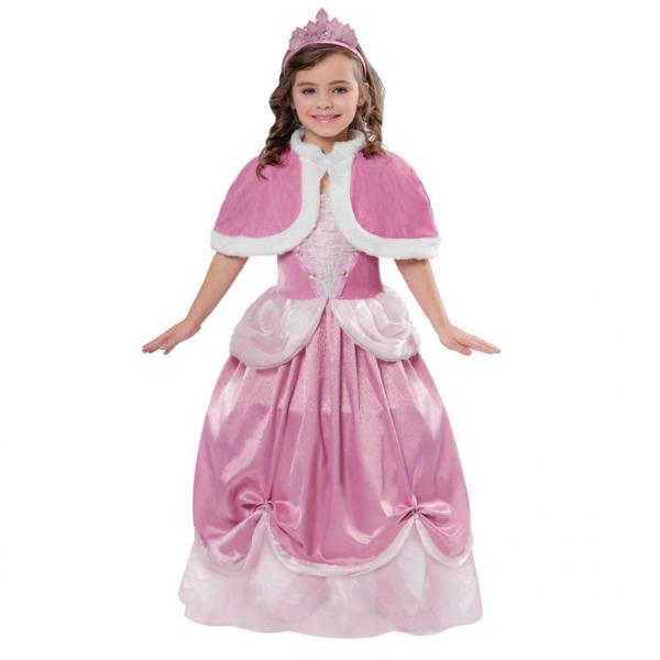 KOSTÝM Princezna růžový 3-5let