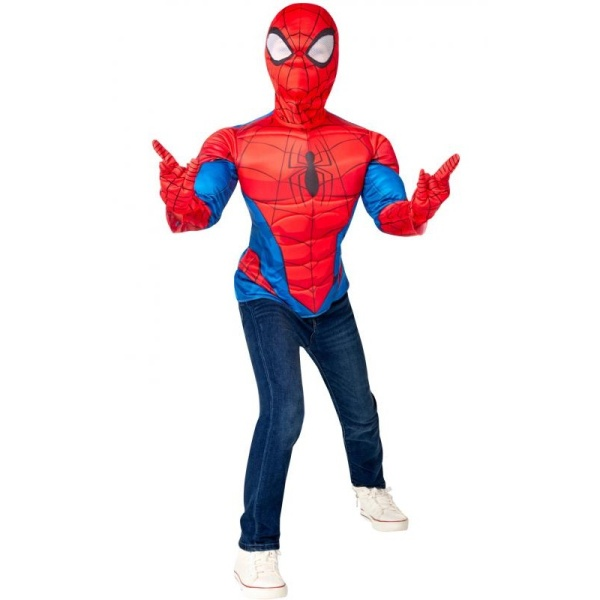 KOSTÝM Spiderman triko s vycpávkami a maska