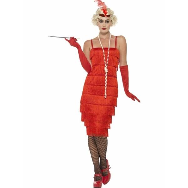 KOSTÝM dámský 20.léta červený