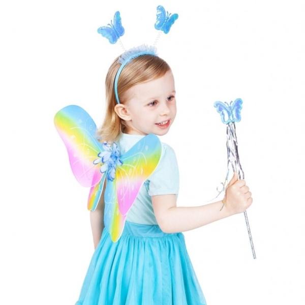 KOSTÝM dětský Duhový motýl 3-6let