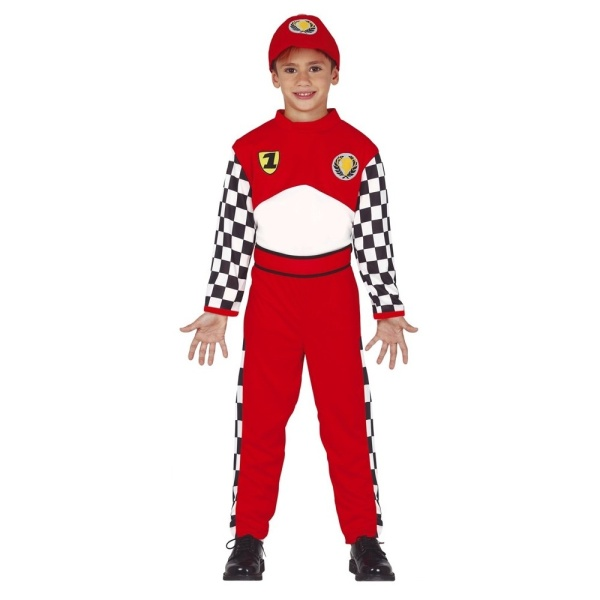 KOSTÝM dětský Pilot Formule1 7-9let
