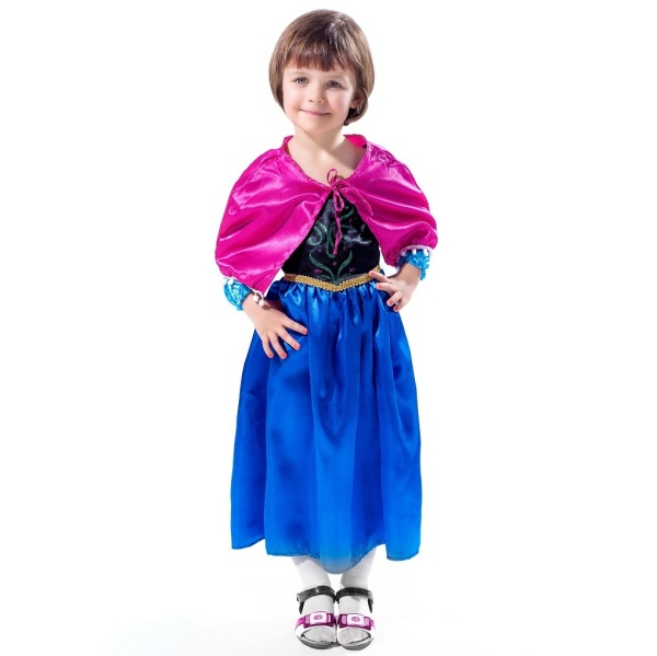 KOSTÝM dětský Princezna Anna vel.S (3-4 roky)