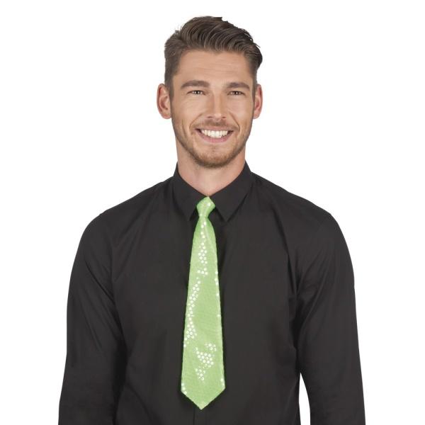KRAVATA flitrová zelená
