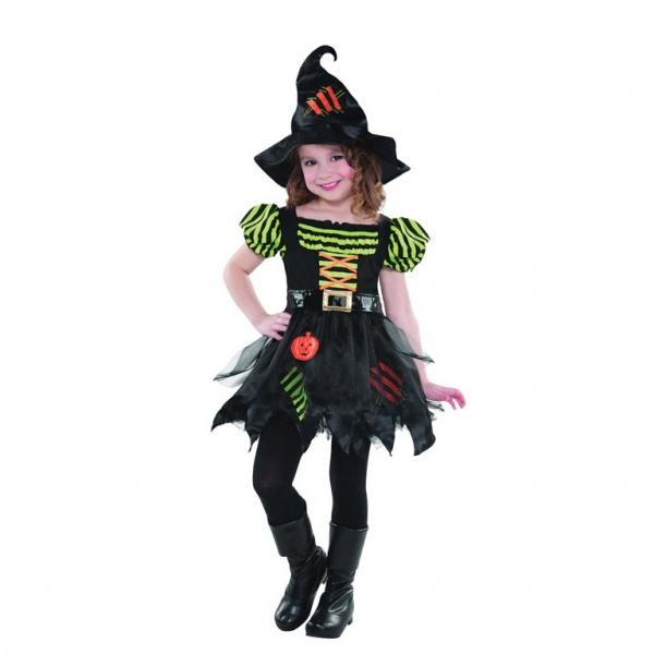 KOSTÝM dětský veselá čarodějnice vel. 8-10 let