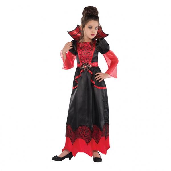 6e0009ff3 KOSTÝM Malá čarodějnice luxusní červeno-černý 4-6 let