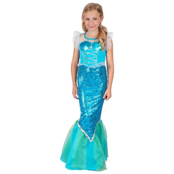 Kostým šaty mořská panna dětský 110-120