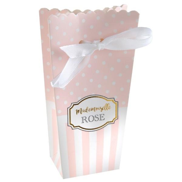 Krabičky na drobnosti zavazovací růžové 8ks