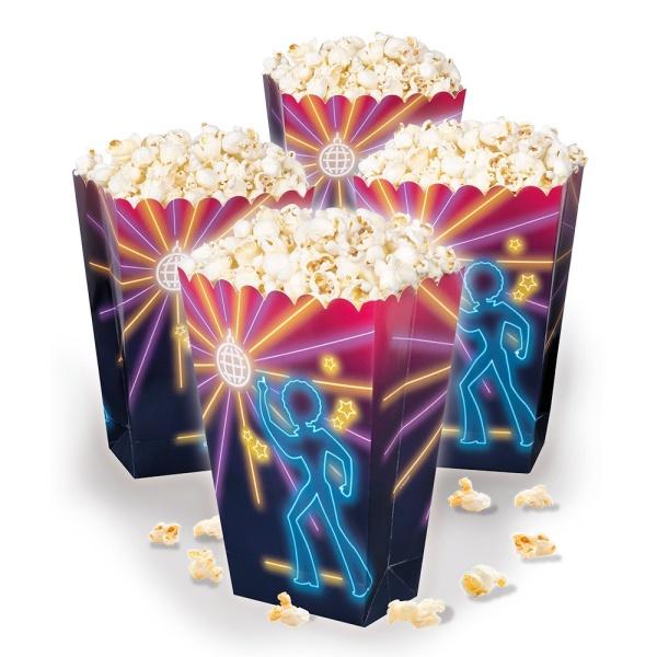 Krabičky na popcorn Disco 4 ks