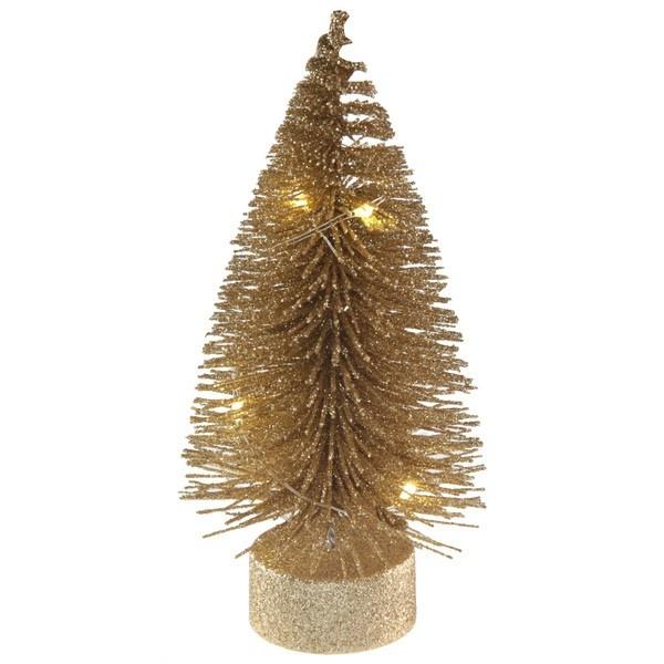 VÁNOČNÍ LED svíticí stromeček zlatý