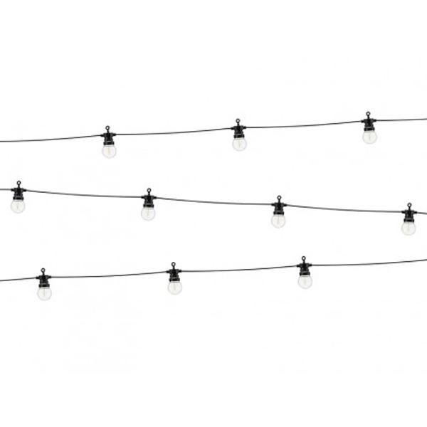 Světelný LED řetěz se žárovkami černý 5m