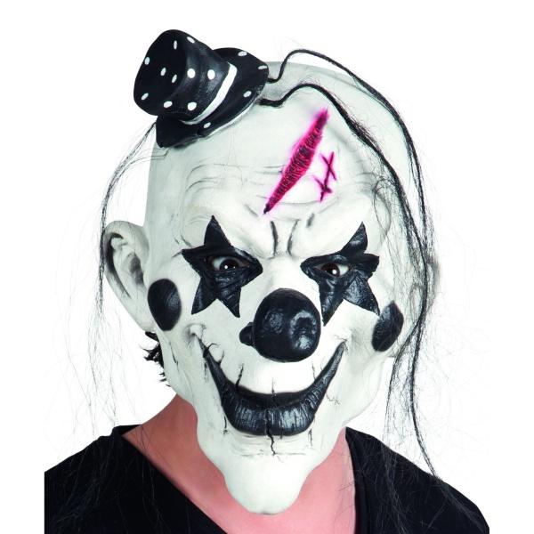 MASKA latexová Psycho Klaun s vlasy