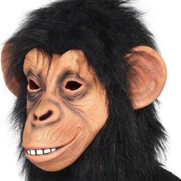 MASKA latexová Šimpanz