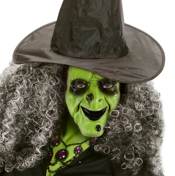 MASKA latexová zelená čarodějnice