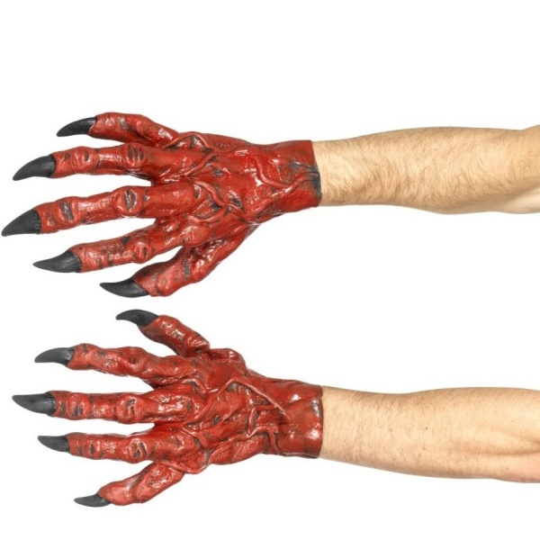 ČERTOVSKÉ RUCE latexové červené