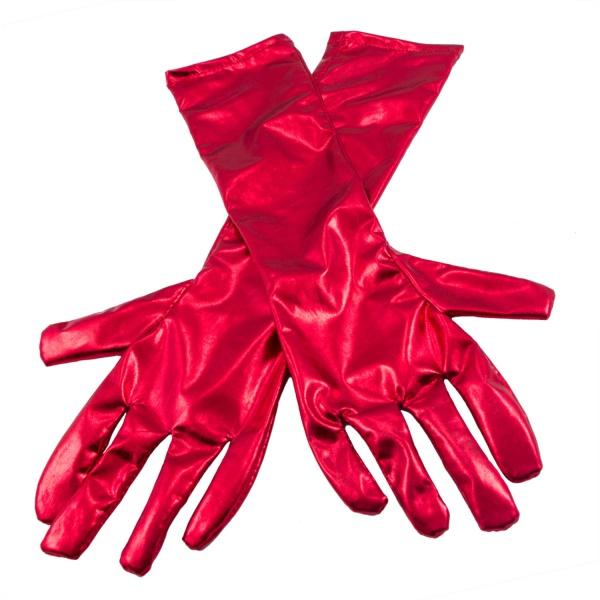 RUKAVICE metalické červené