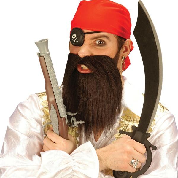 SADA Pirát- šátek, páska přes oko, vousy