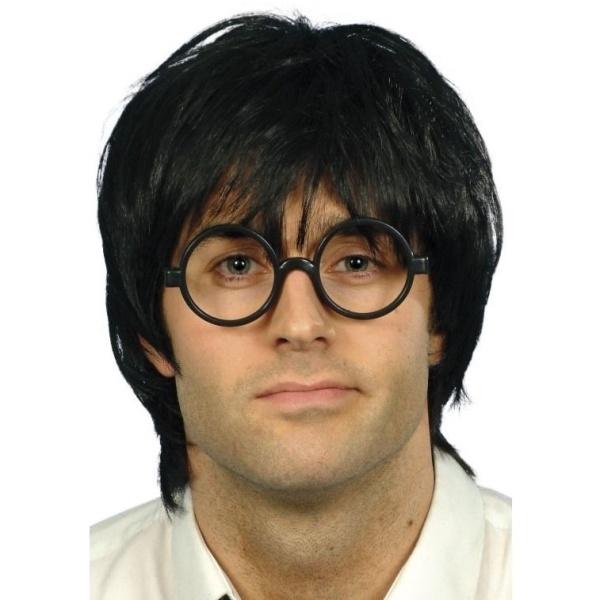 SADA Školák černá s parukou a brýlemi