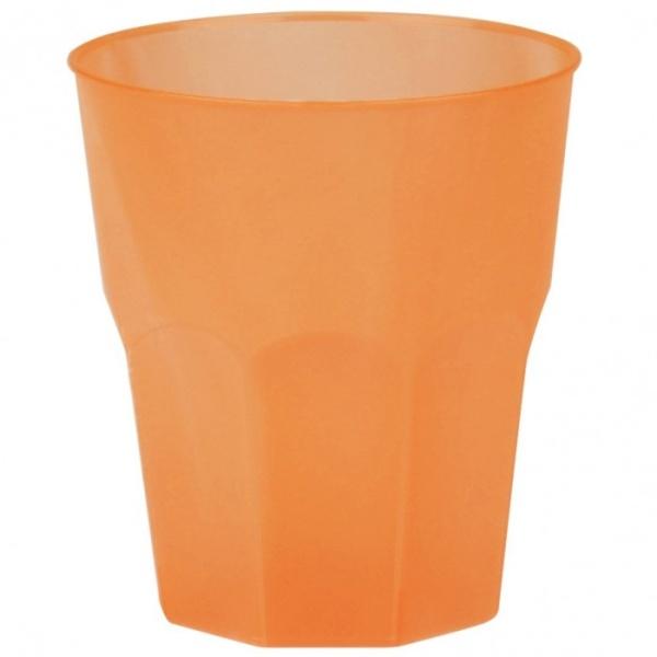 SKLENIČKY koktejlové oranžové 27cl 20ks