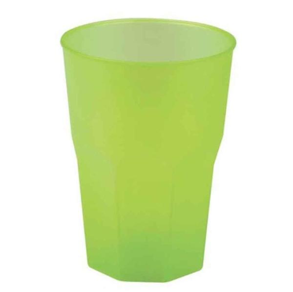 SKLENIČKY koktejlové zelené 30cl 20ks
