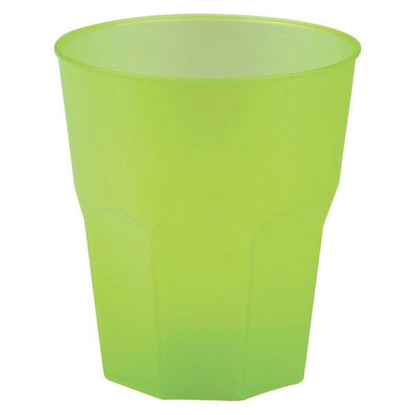 SKLENIČKY koktejlové zelené 35cl 20ks