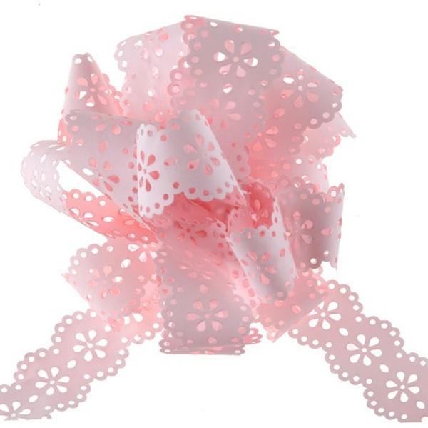 STUHA krajková polypropylen růžová 5ks