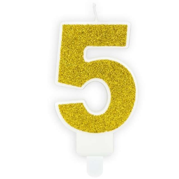 SVÍČKA č.5 zlatá