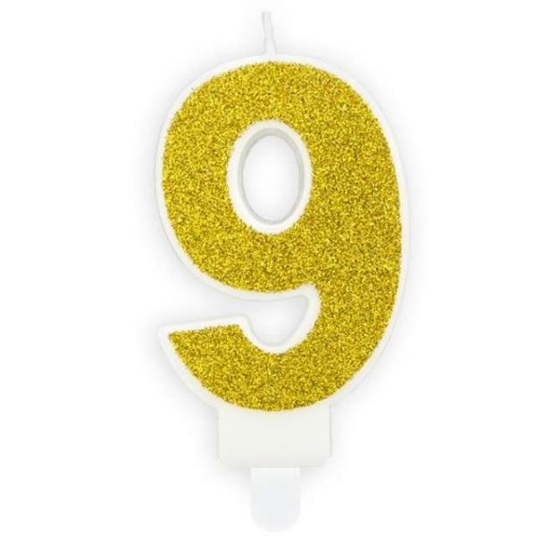 SVÍČKA č.9 zlatá