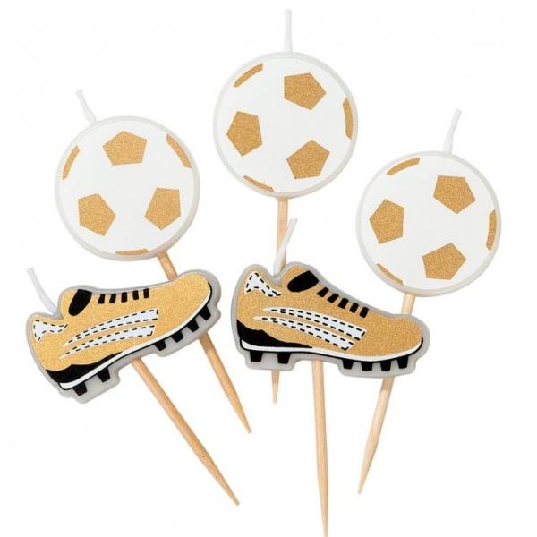 SVÍČKY Fotbal - míče a kopačky 5ks