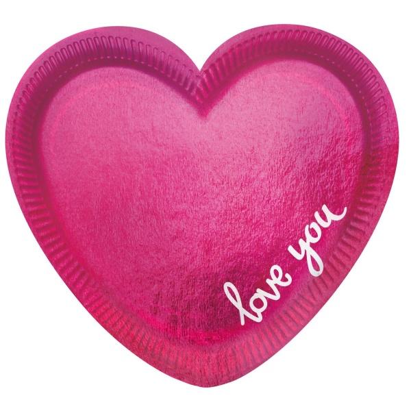 TALÍŘE Everyday love ve tvaru srdce 6ks