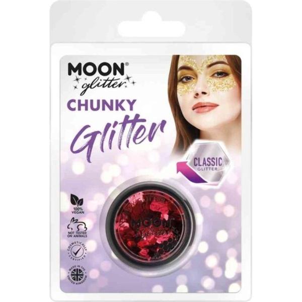 TŘPYTKY Chunky Glitter červené