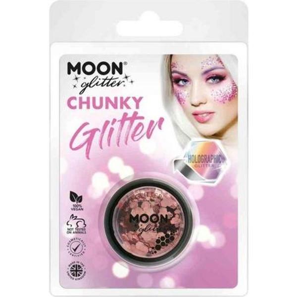 TŘPYTKY Chunky Glitter holografické Rose Gold