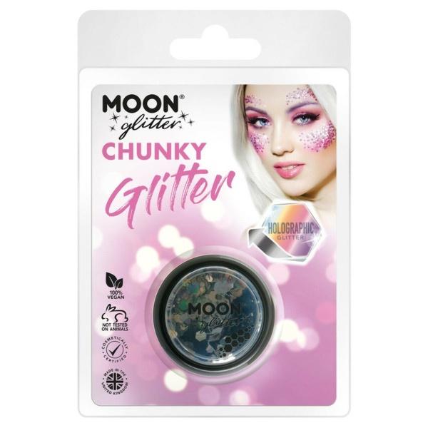 TŘPYTKY Chunky Glitter holografické černé