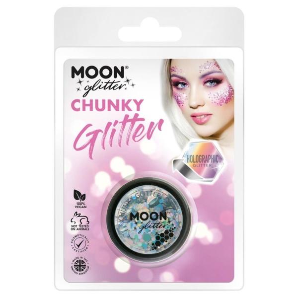TŘPYTKY Chunky Glitter holografické stříbrné