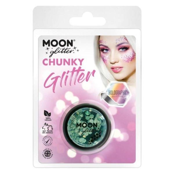 TŘPYTKY Chunky Glitter holografické zelené