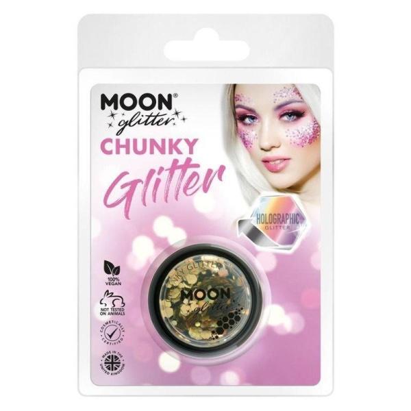 TŘPYTKY Chunky Glitter holografické zlaté